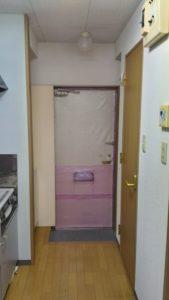 玄関の防寒対策ならコレ見た目は悪いが効果は抜群